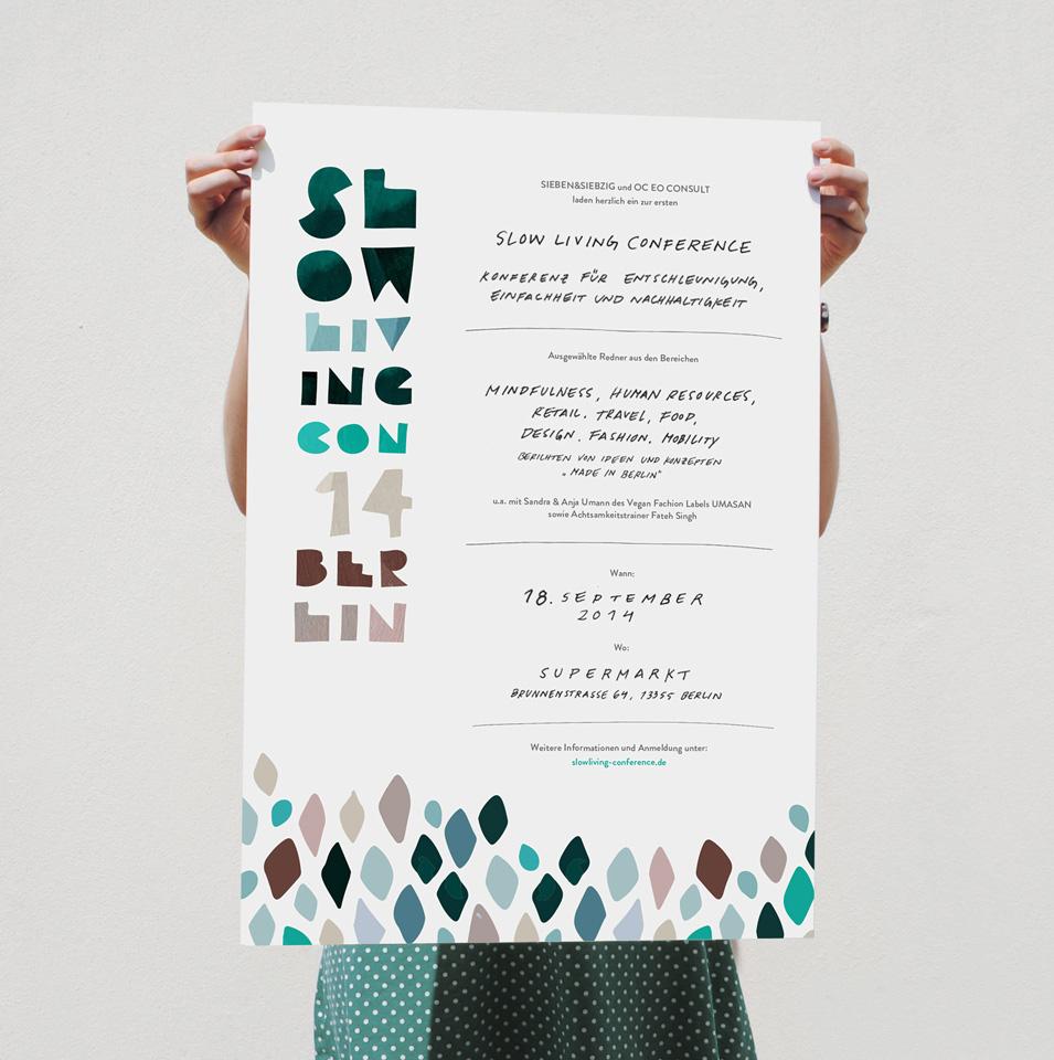 Slow Living Con / Identity, Print, Web