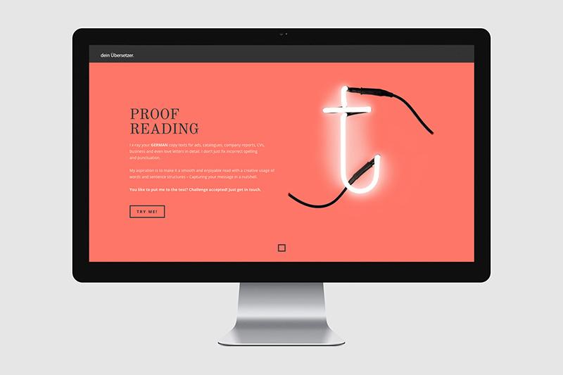 Dein Übersetzer / Screendesign
